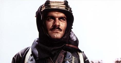 Omar Sharif in Lawrence of Arabia, 1962.
