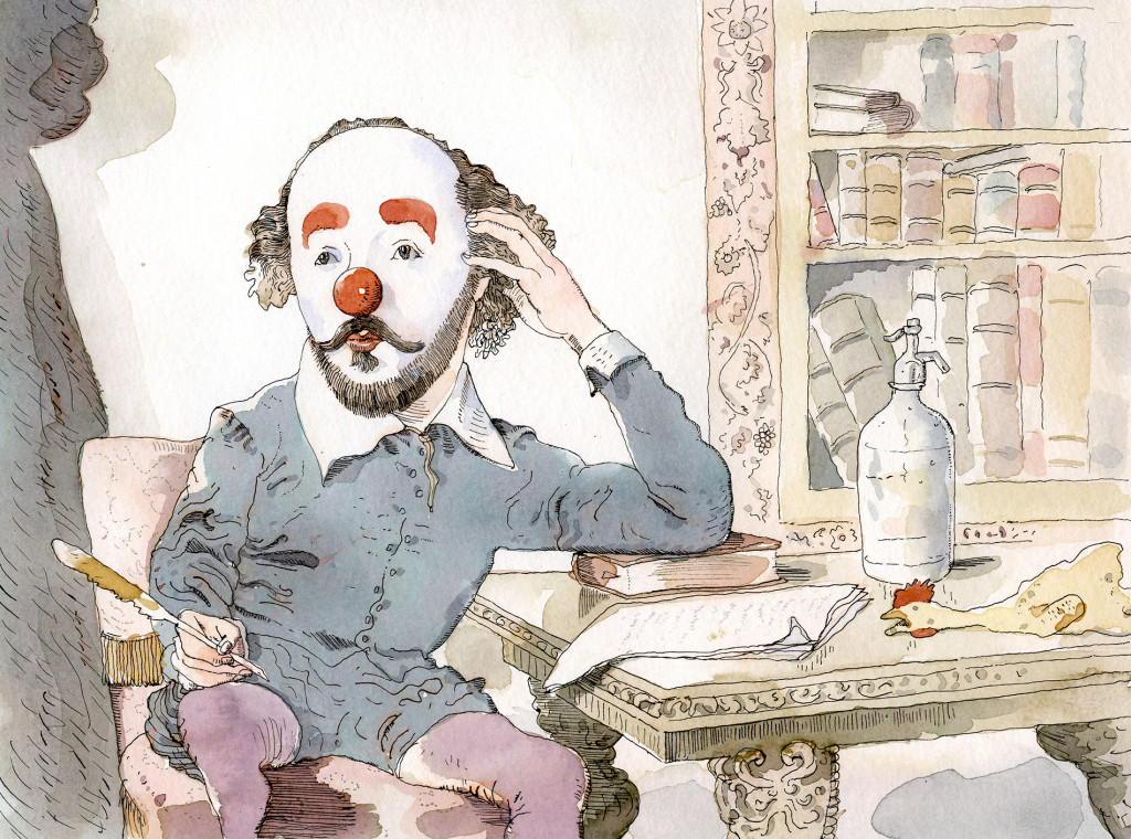 Shakespeare with a red nose