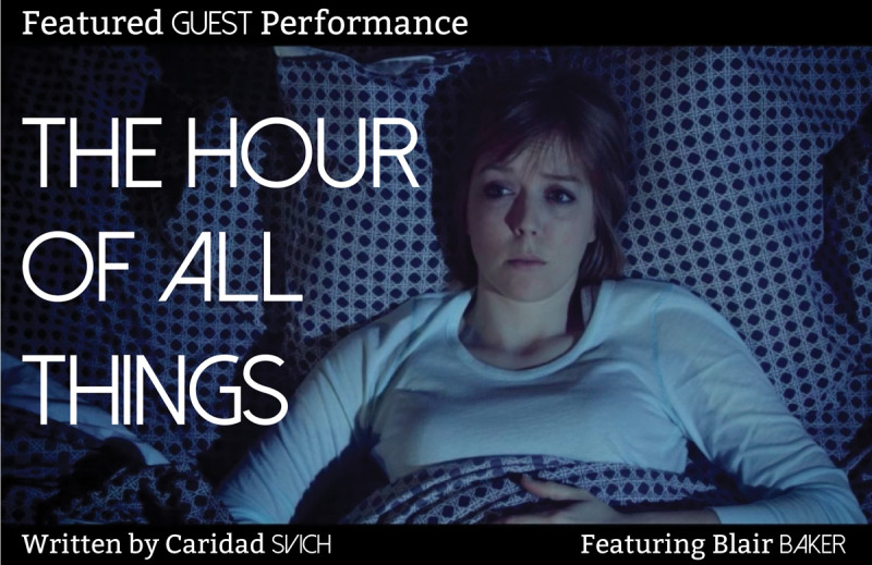 Blair Baker stars as Nic in THE HOUR OF ALL THINGS by Caridad Svich. Image courtesy of phillywomenstheatrefest.org: