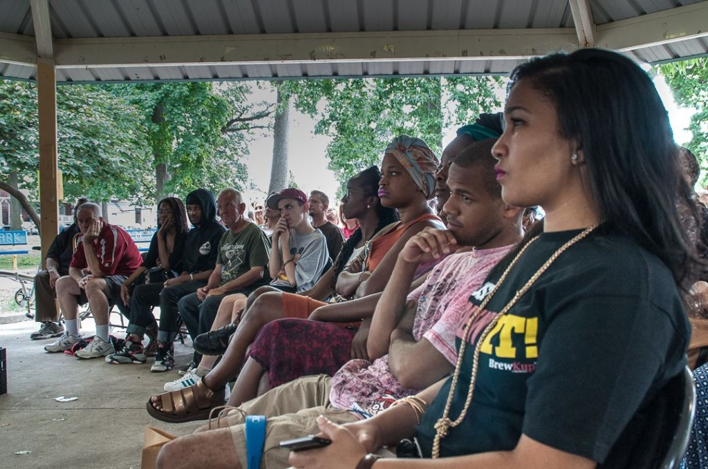 The audience for OTHELLO at Malcolm X Park. Photo by Tieshka Smith