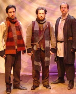 Creators/performers Dave Jadico, Aaron Cromie, and Tony Lawton, from Lantern Theater Company's 2005 production of THE FOOCY (Photo credit: Janet Embree)
