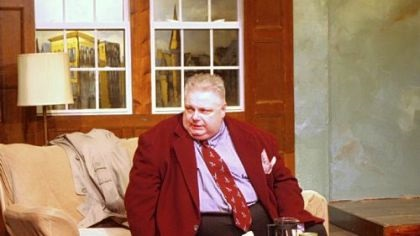 F. j. Hartland as an actor in Conor McPherson's Shining City.