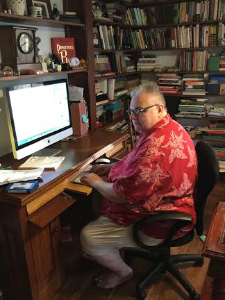 FJ Hartland in his office, Photo by Dr. Victoria Cope