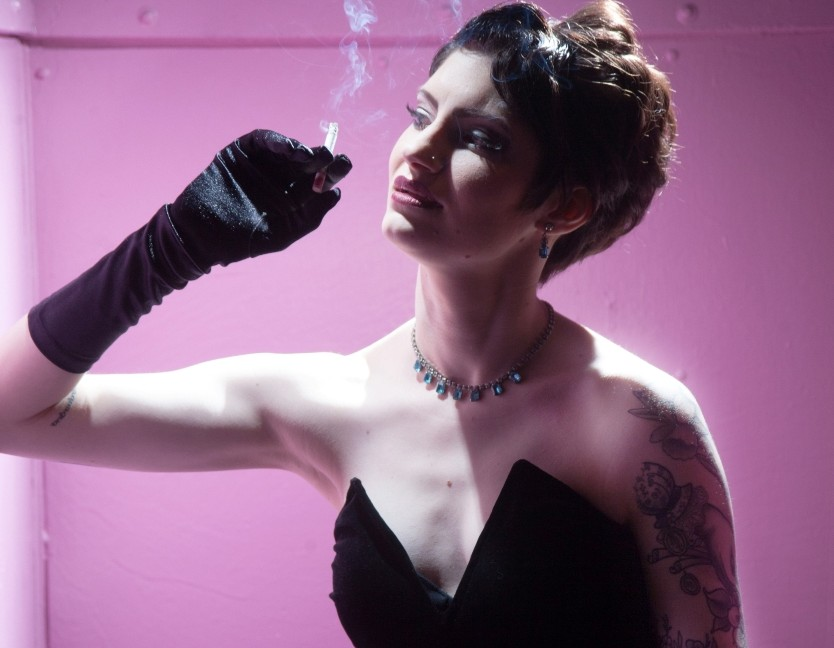 Lauren Tuvell as nightclub singer Olivia L'Amour in 901 NOWHERE STREET (Photo credit: Kate Raines)