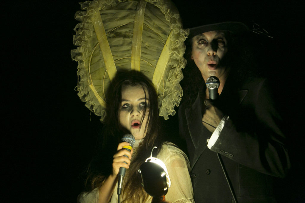 Felicia Kalani Anderton & Rudy Caporaso in A GRAVEYARD CABARET. Photo by J.R. Blackwell.