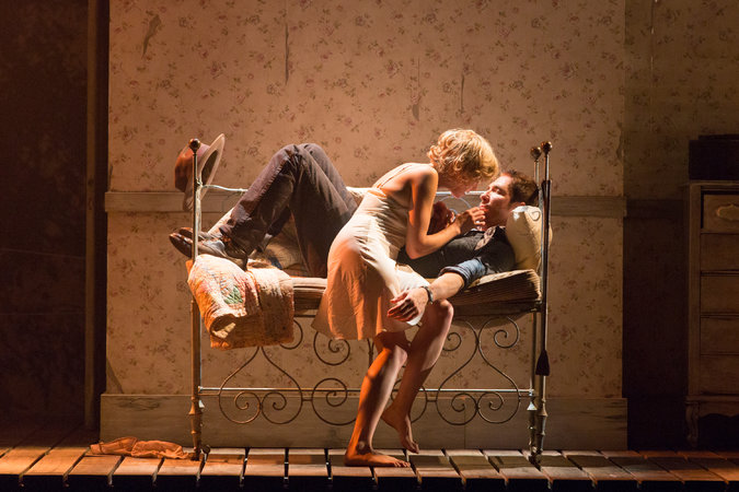 Susannah Hoffman and Dylan McDermott in BABY DOLL. Photo by Richard Termine.