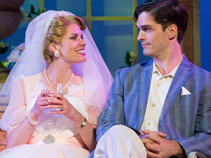Megan Nicole Arnoldy and Paul Schaefer in HIGH SOCIETY. Photo by Mark Garvin.