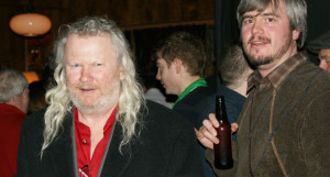 Fergus Carey left and Phindie editor Christopher Munden.