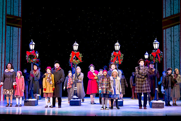 An ensemble scene from the Walnut Street Theatre's A CHRISTMAS STORY (Photo credit: Mark Garvin)