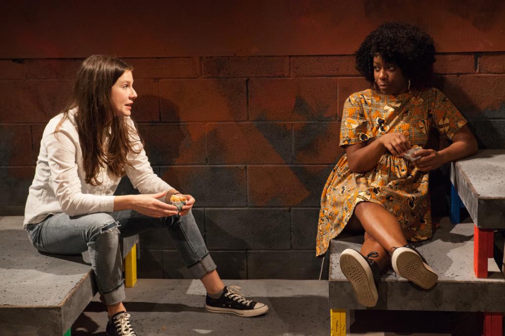 Anna Zaida Szapiro and Danielle Leneé in Emma Goidel's A KNEE THAT CAN BEND, December 2015.