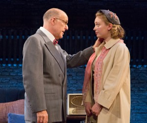 Kenny Morris is the agent and Emile Krause is the daughter in FUNNYMAN at the Arden (Photo credit: Mark Garvin)