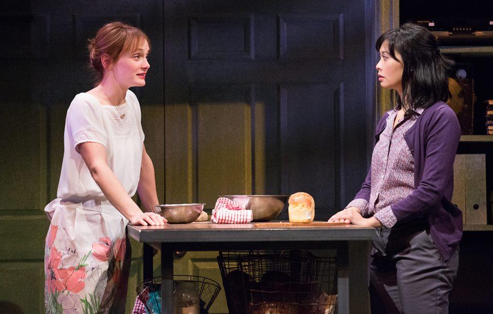 Julianna Zinkel and Tiffany Villarin in Bristol Riverside Theatre's THE LANGUAGE ARCHIVE (Photo credit: Mark Garvin)