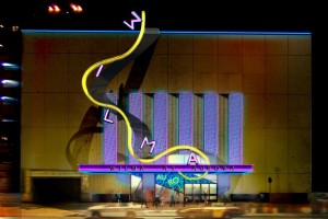 Lookin' better and honoring Aurora: the new facade. Rendering courtesy Kristen Robinson, Wilma Theater.