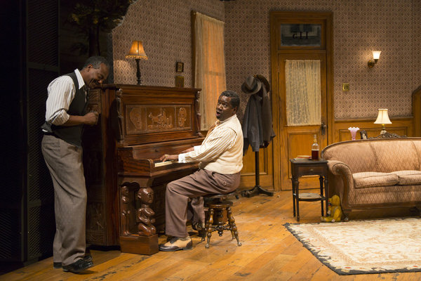 David Pegram and Stephen Tyrone Williams in THE PIANO LESSON. Photo by T. Charles Erickson.