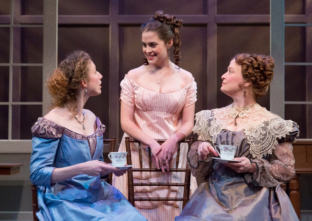 Cassandra Bissell, Claire Inie-Richards, and Susan McKey in SENSE AND SENSIBILITY at People's Light (Photo credit: Mark Garvin)