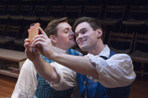 David Reese Hutchison and Kevin Murray in THE SISTERHOOD. Photo by John Flak.