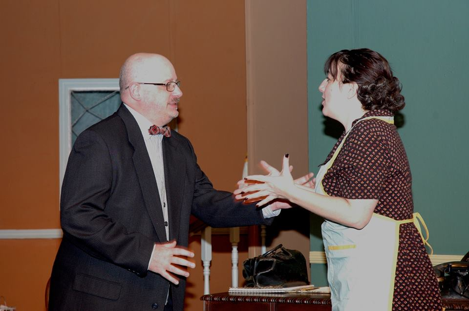 Scott R. Grumling( as Dr. Haggett) and Jen Allegra ( as Abby) in THE LATE CHRISTOPHER BEAN.