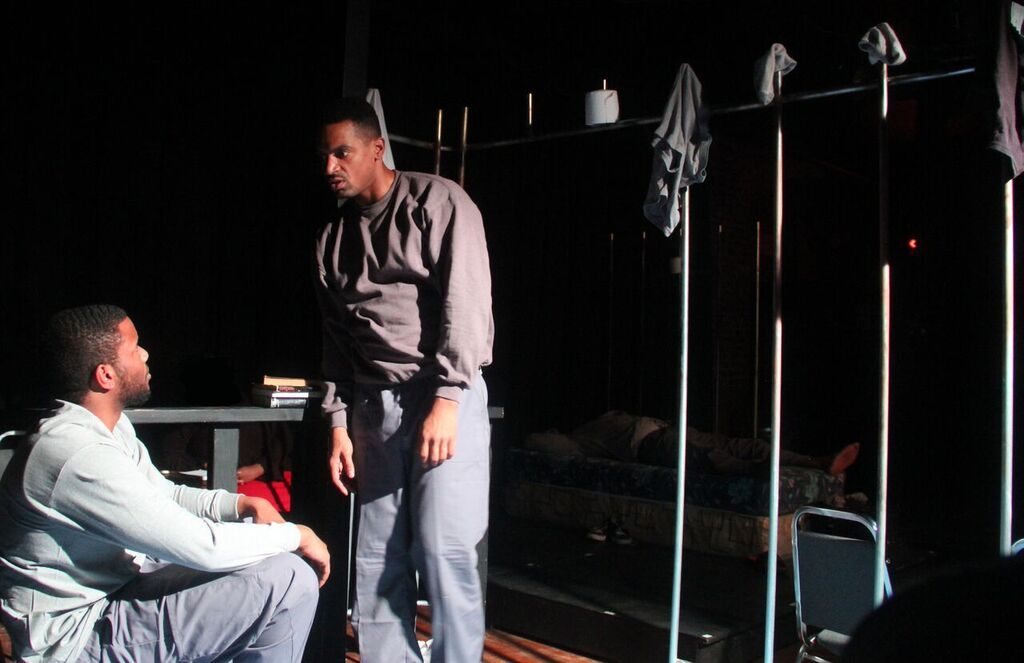 Jason Stewart and Carlo Campbell in V TO X. Photo by: Jonathan Ashton