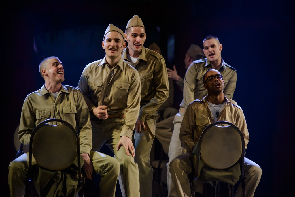 Dogfight soldiers, Media Theatre.  Photo by Maura McConnell.
