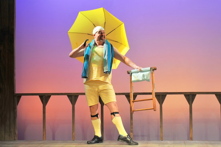 Rob Kahn as Malvolio in TWELFTH NIGHT. Photo by Kendall Whitehouse.