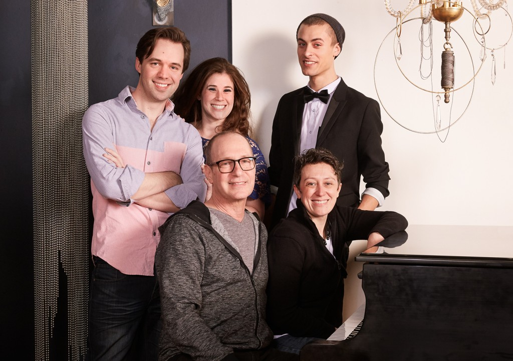 Chase Byrd, Samantha Riesenberg, Cory Wade, Dan Martin, and Melissa Kolczynski: performers of the Biello Martin Songbook.