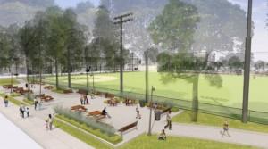 Proposed renovation of Columbus Square Park.
