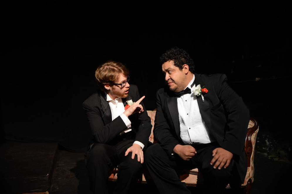 Joel Guerrero (left) and Jeff Hunsicker in MY FAVORITE HUSBANDS (Photo by John Donges).