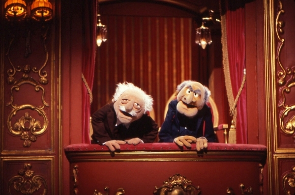 Is everybody a critic? Statler and Waldrof. (Photo via muppet.wikia.com)