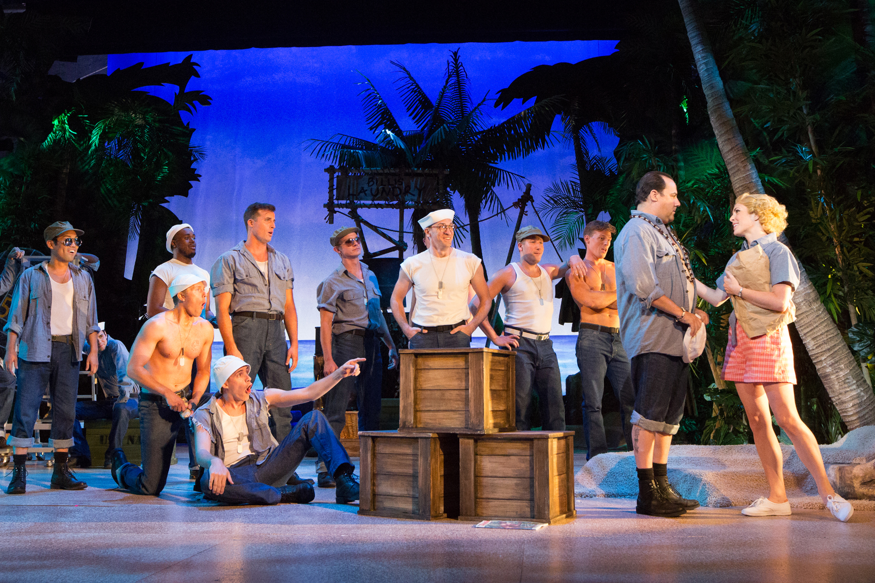Company of Rodgers and Hammerstein's SOUTH PACIFIC at Walnut Street Theatre. Photo by Mark Garvin.