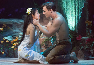 Alison T. Chi and Ben Michael in Rodgers and Hammerstein's SOUTH PACIFIC at Walnut Street Theatre. Photo by Mark Garvin.