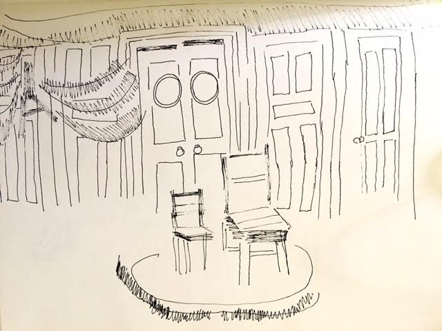 Sketch by Chuck Shultz.
