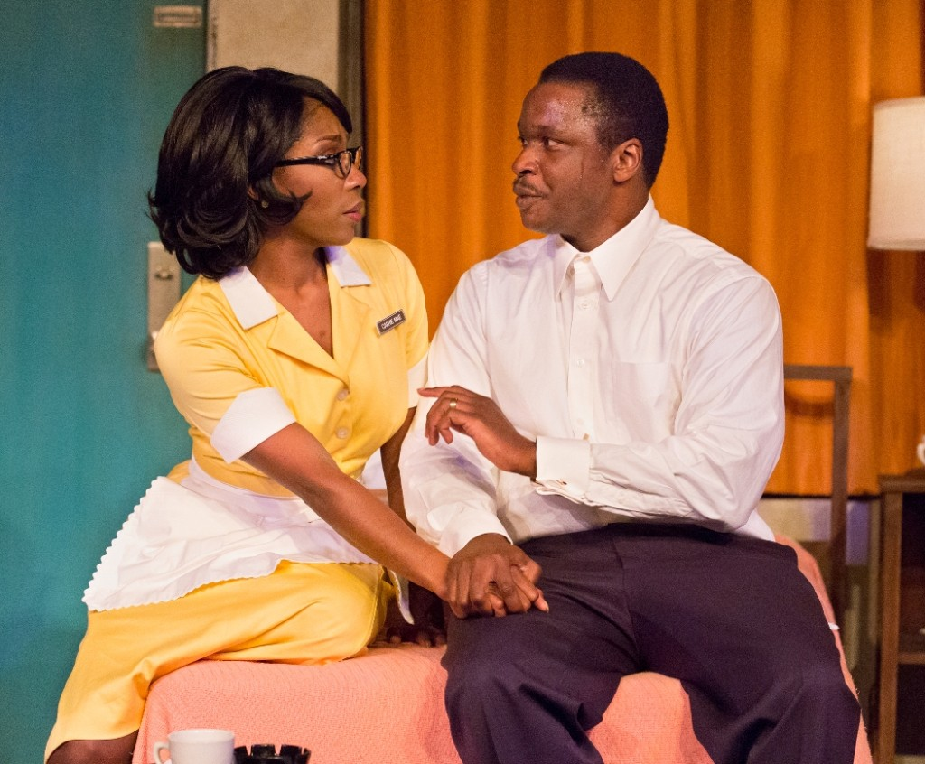 Patrese D. McClain and Bowman Wright star in THE MOUNTAINTOP at People's Light (Photo credit: Mark Garvin)