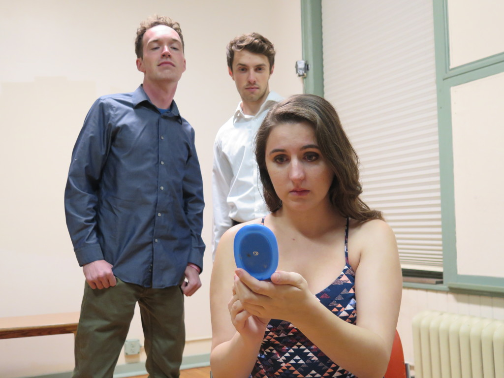 Michael Bee, Joshua McLucas, and Austin Stanton in INCIDENT. Photo by Matthew Bookler.