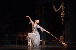 Pennsylvania Ballet principal dancer Oksana Maslova in Ben Stevenson's CINDERELLA. Photo Credit: Alexander Iziliaev