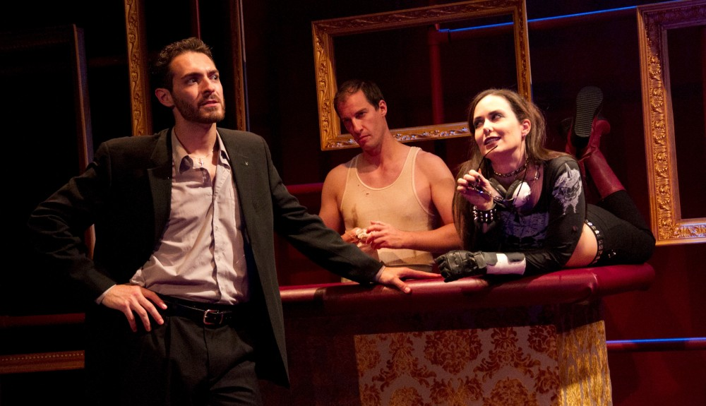 Chris Anthony, Ross Beschler, and Kayla Anthony in DELIRIUM. (Photo by Dave Sarrafian)