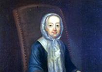 Portrait of Hannah Callowhill Penn, c. 1740–1742. Attributed to John Hesselius (1728-1778).