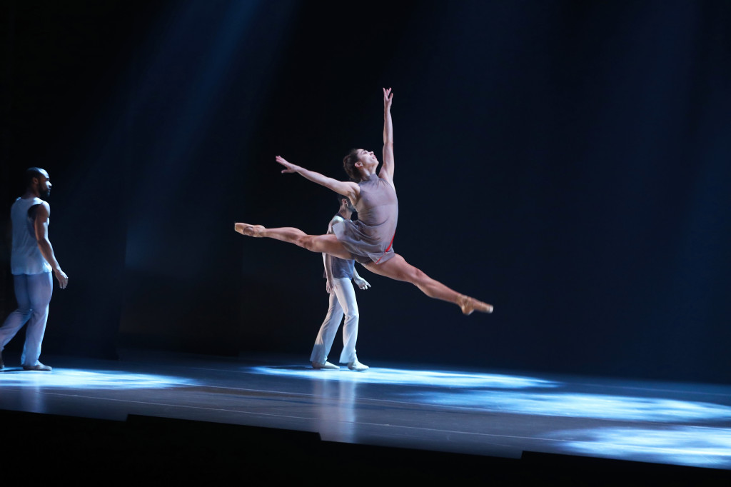 Dancers: (featured) Francesca Forcella leaps in Beautiful Once by Jodie Gates. Photo credit: Bill Hebert