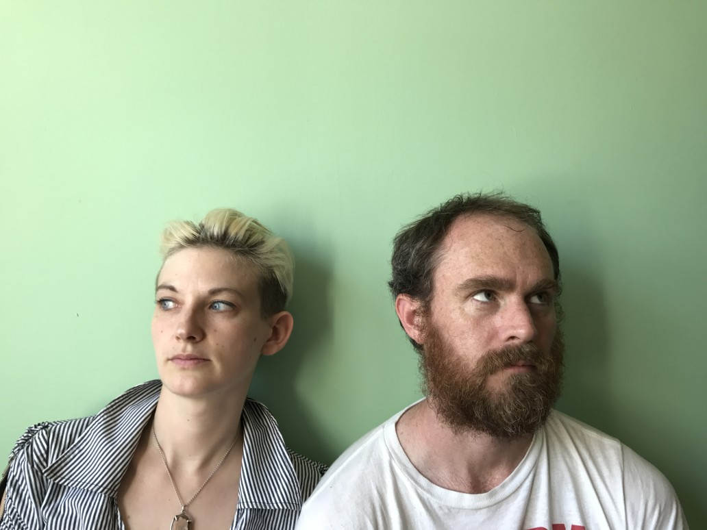 Chris Davis with theatrical collaborator/longtime friend Mary Tuomanen, promoting ALCHEMIST, 2017.