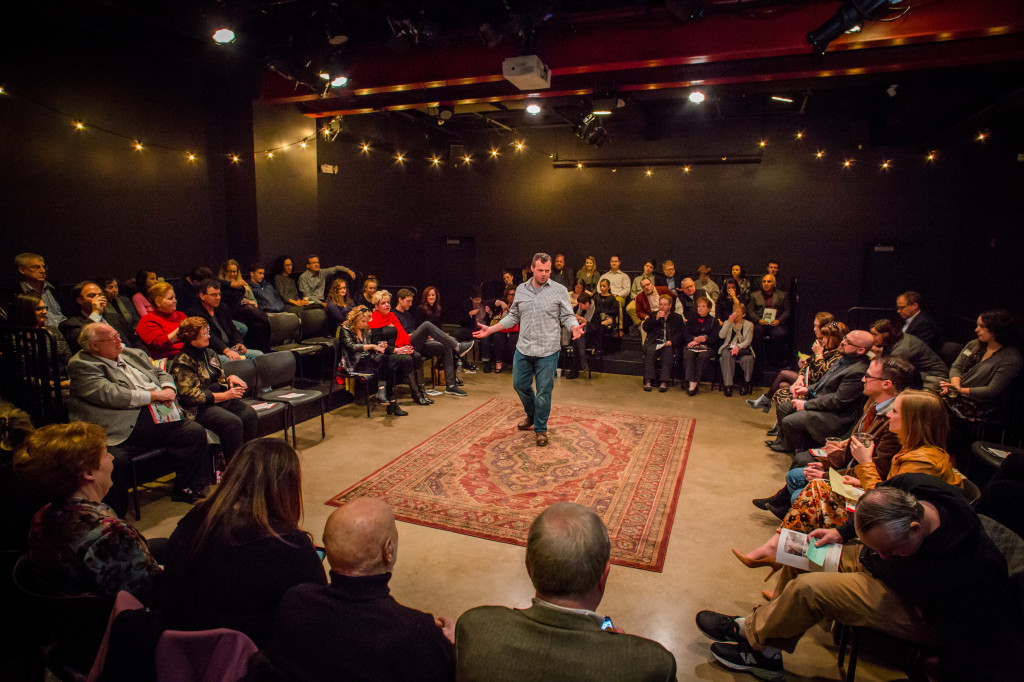 Scott Greer and Arden audience in Every Brilliant Thing, Photo by Ashley Smith LaBonde