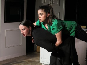 Colleen Corcoran and Marisol Custodio in ALL THE DEAD BIDDLES. Photo by Shelli Pentimall Bookler.