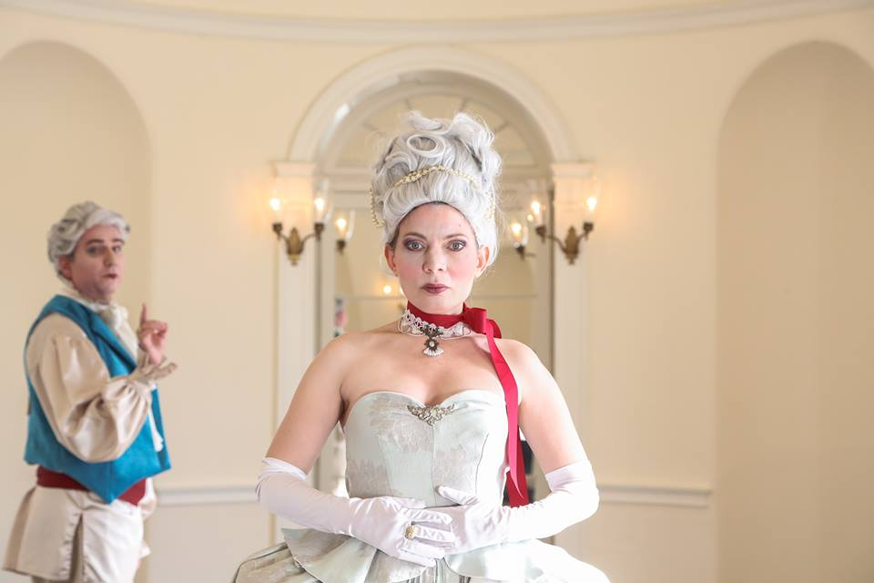 Brian McCann and Jennifer Summerfield in Curio's Marie Antoinette. Photo by Rebecca Gudelunas.