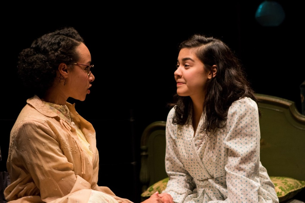 Caroline Strang, Brittany Anikka Liu in THE DIARY OF ANNE FRANK. Photo by Tori Harvey
