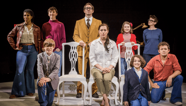 The cast of FUN HOME. Photo credit: Ashley Smith.