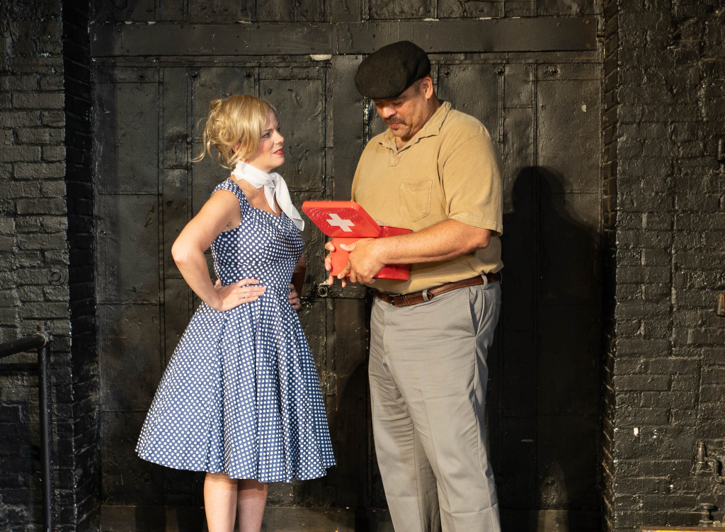 Kirsten Quinn as Lily and Brian Wilson as Dean. Photo by Dawn Brooks.