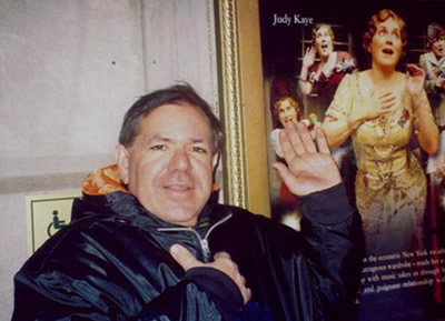 Joel Markowitz at his favorite place--the theater
