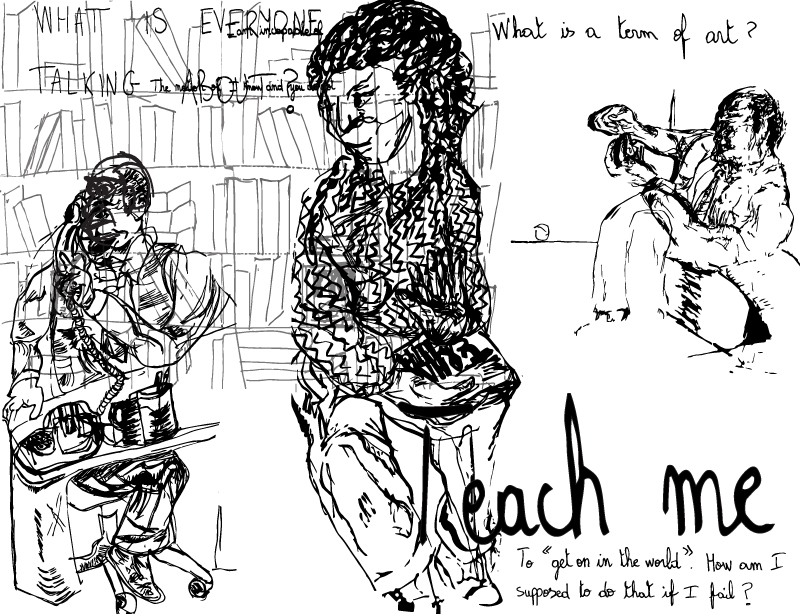 Sketch by Chuck Schultz and Yumna Tolaimate.