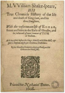 3. The Pavier mis-dated pirated version of Shakespeare's 1608 quarto