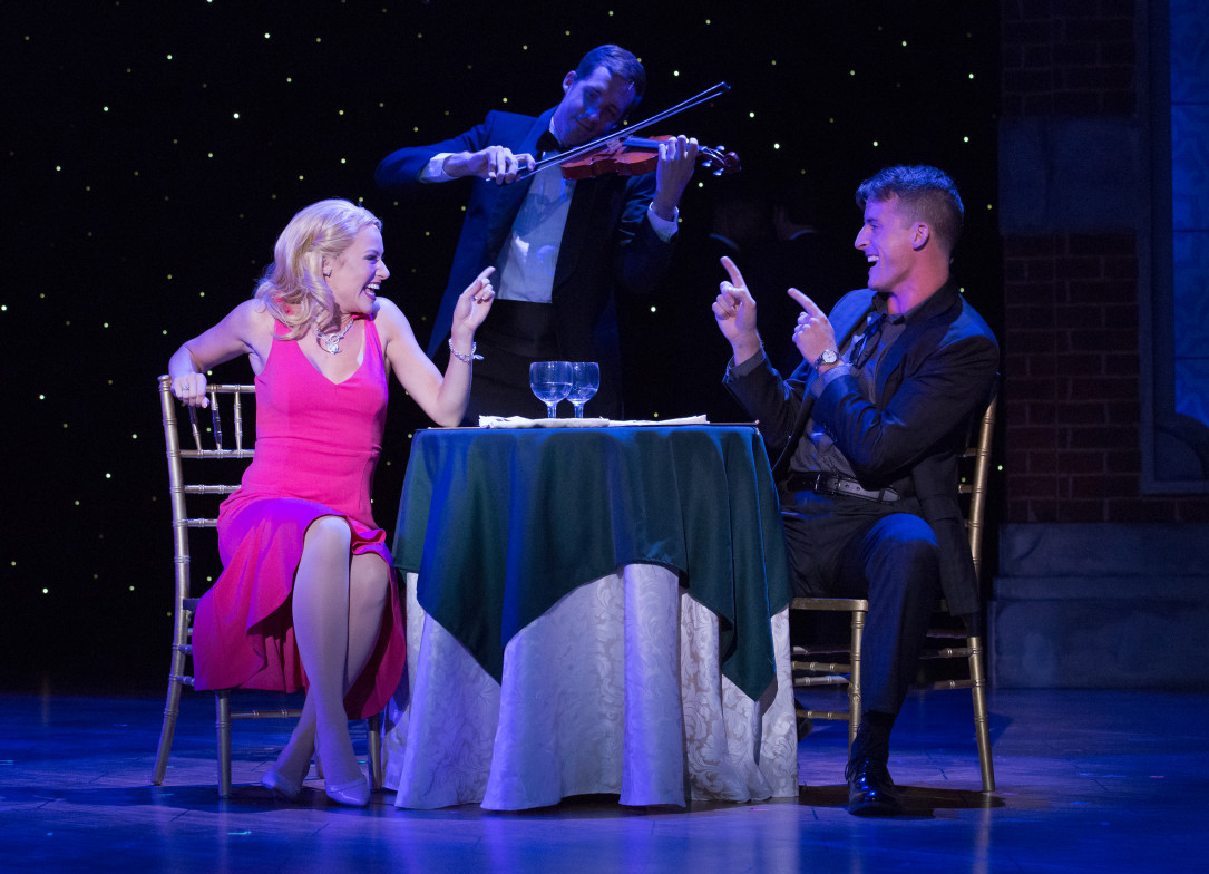 Kathryn Brunner and Sean Thompson (right) in LEGALLY BLONDE. Photo by Mark Garvin.