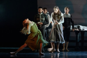 Constance Devernay and company in Scottish Ballet's The Crucible. Photo: Jane Hobson