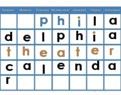 Philadelphia Theater Calendar September 2017
